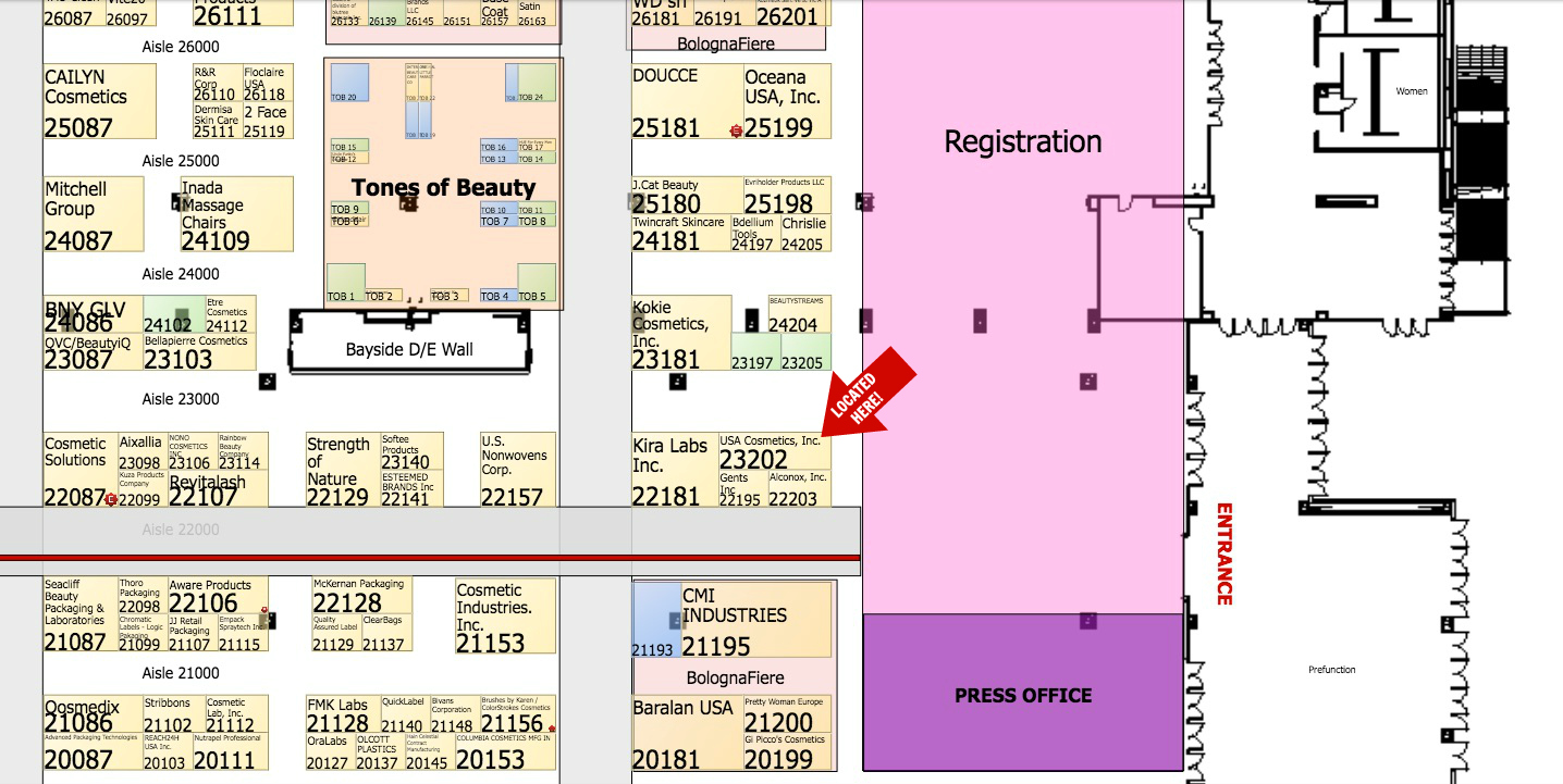 K-Beauty Floorplan for CosmoProf 2017